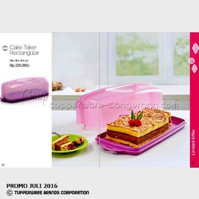 Cake Taker Rectangular ~ Katalog Tupperware Promo Juli 2016
