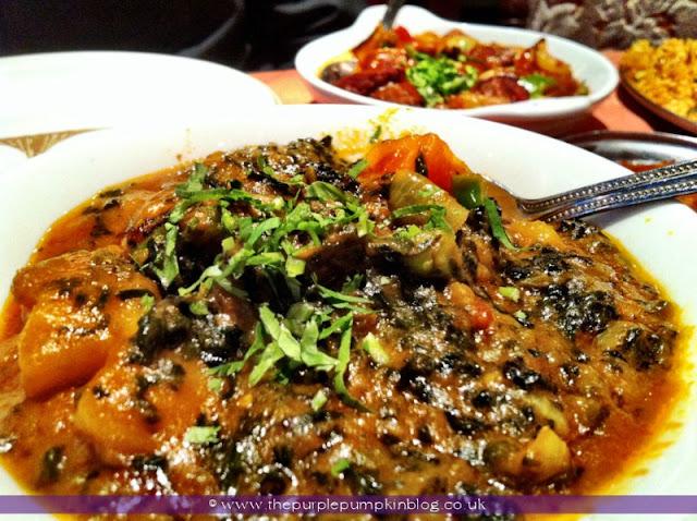 Sag Aloo, Raj of India, Collier Row Review at The Purple Pumpkin Blog