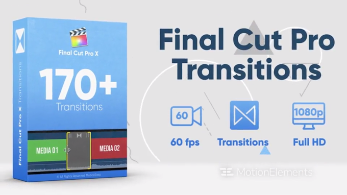 170+ Final Cut Pro Transitions Pack