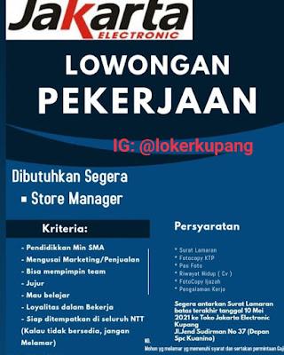 Lowongan Kerja Jakarta Electronic Sebagai Store Manager