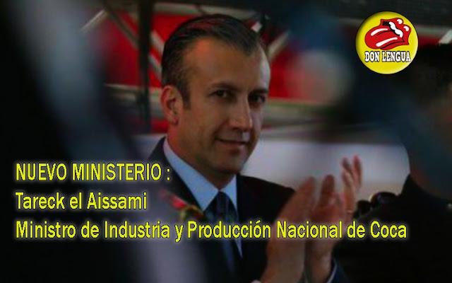 Nuevo ministro de Industria y Producción Nacional de Coca - Tareck el Aissami