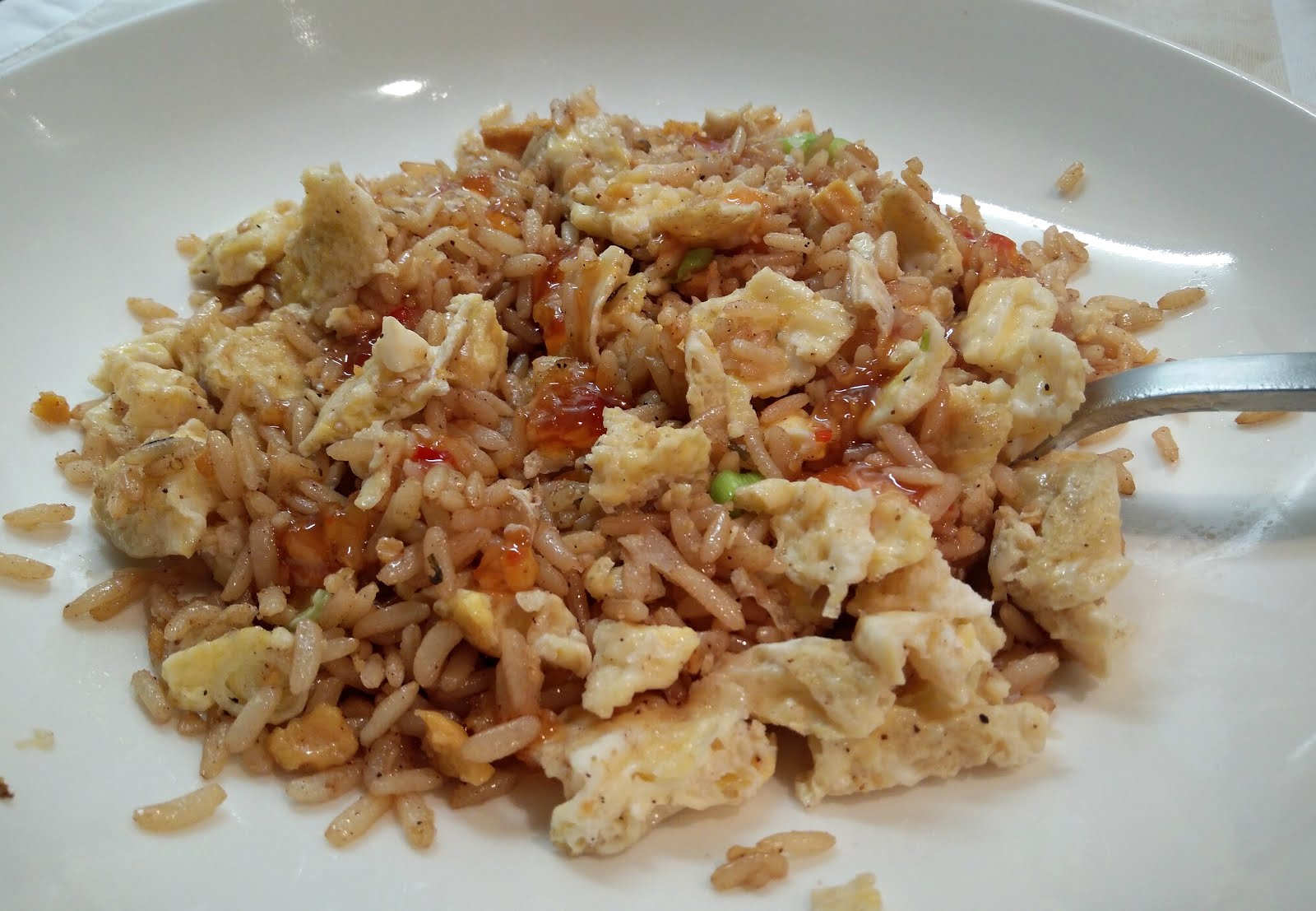 Speedy egg fried rice dinner