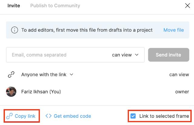 Share Link Frame Figma