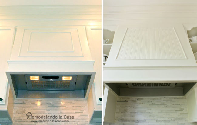 how to update the look of range hood.