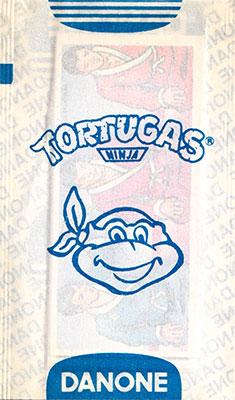 Sobre cromos Las Tortugas Ninja Danone 1990