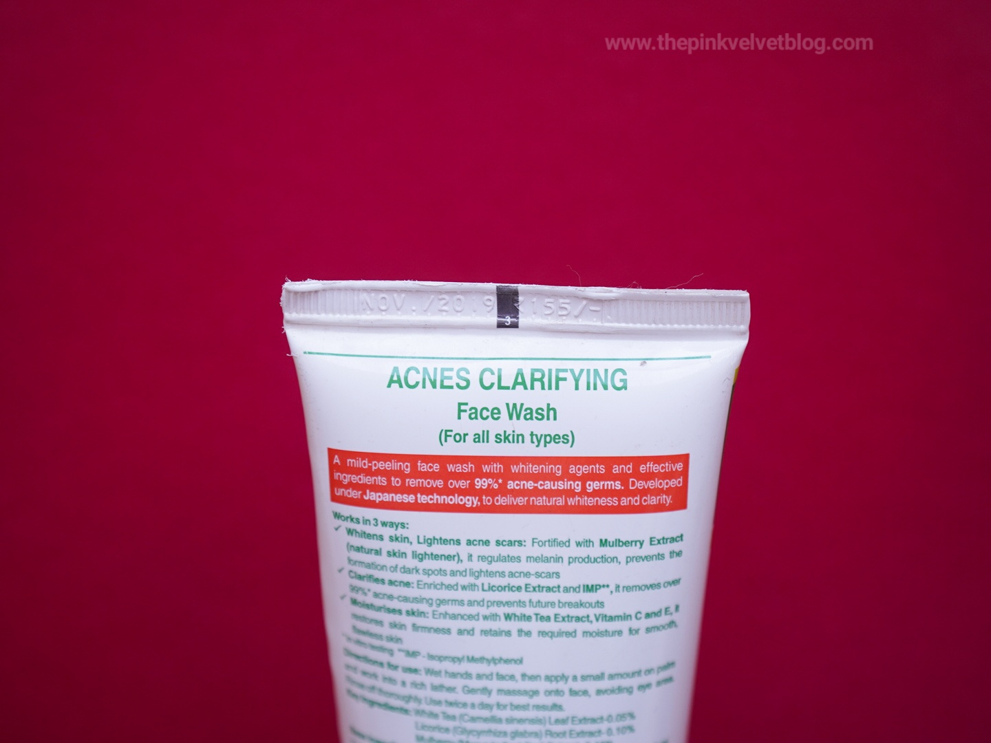 ACNES Clarifying Face Wash Review