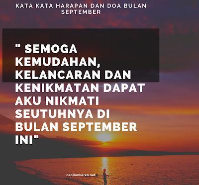 kata kata harapan dan doa bulan september