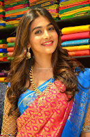 Puja Hegde looks stunning in Red saree at launch of Anutex shopping mall ~ Celebrities Galleries 005.JPG