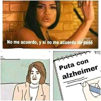 Meme de humor : No me acuerdo - Thalía y Natti Natasha