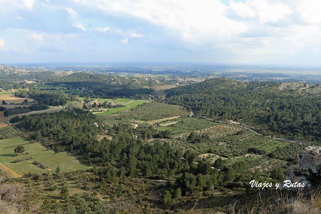 Vistas desde el Castillo de Les Baux de Provence