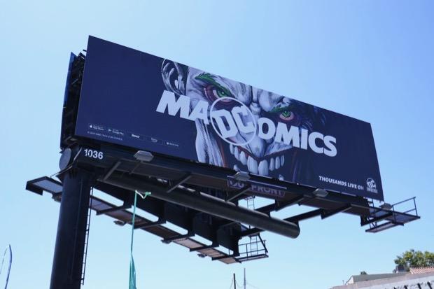 Joker Mad Comics DC Universe billboard