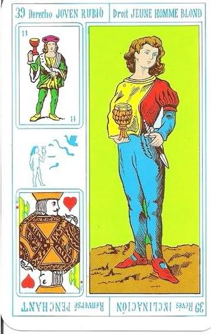 Tarot Rey Thot: Nº 39 - Joven rubio - Inclinación