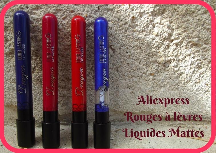 Aliexpress: leurs rouges à lèvres liquides.