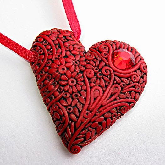 polymer clay heart