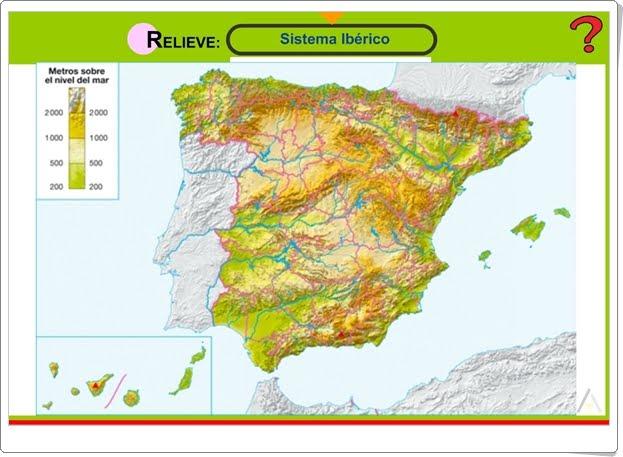 """""""Relieve de España"""" (Juego de Ciencias Sociales de Primaria)"""