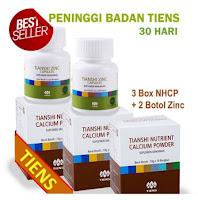 Paket Peninggi Badan Orang Dewasa 30 hari Kalsium dan Zinc NHCP Tiens