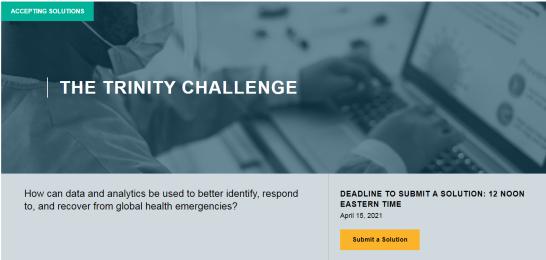 MIT Solve: The Trinity Challenge