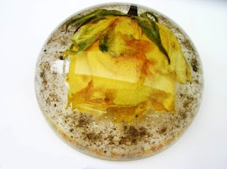 Ashes and Funeral flower paperweight