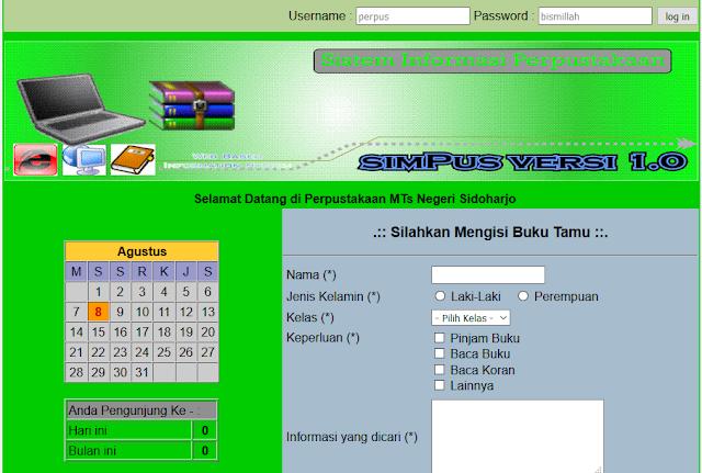 Source Code PHP Aplikasi Perpus Sekolah