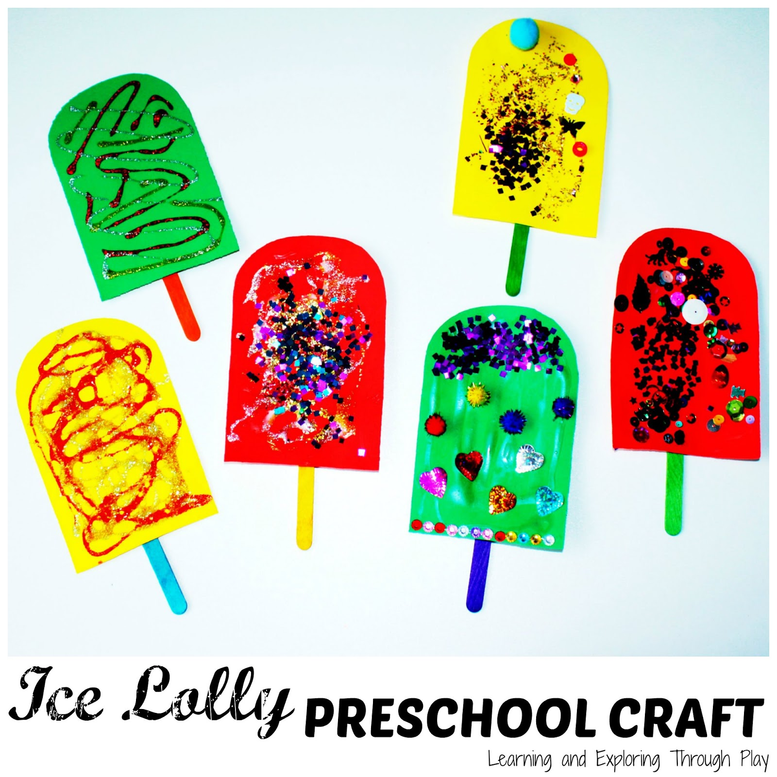 Learning And Exploring Through Play Ice Lolly Preschool Craft