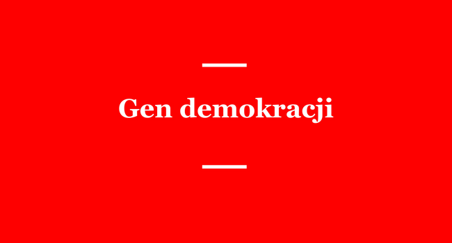 Logo programu Gen demokracji