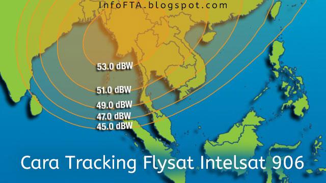Cara Tracking Flysat Intelsat 906