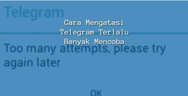 cara mengatasi telegram terlalu banyak mencoba