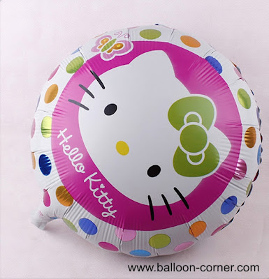 Balon Foil Bulat Hello Kitty