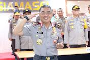 Upacara Korps Rapart Kapolda dan Wakapolda Sulawesi Barat Lewat Video Conference