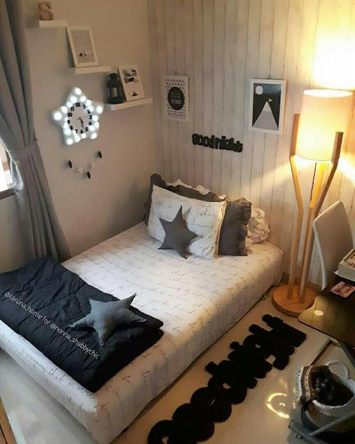 Dekorasi Kamar Tidur Sempit Remaja Sederhana