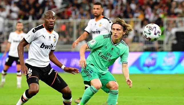 Modric equals Toni Kroos's achievement after just 51 minutes.