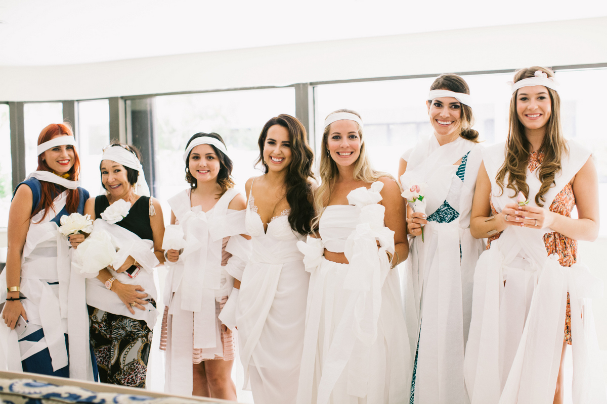 bridal shower toilet paper dress game