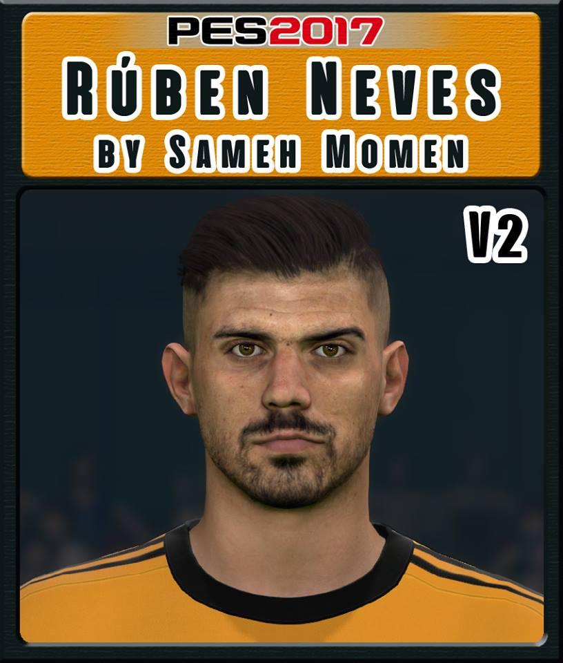PES 2017 R. Neves Face by  Sameh Momen