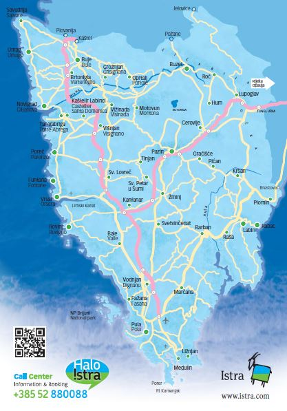 Istria Map by Istria Tourist Board