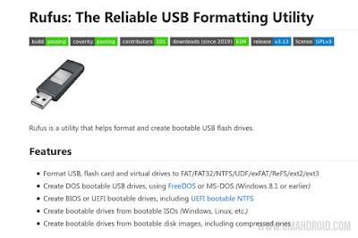 Rufus USB Formatting Utility Terbaru