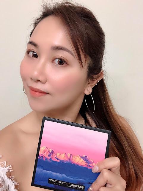 完美日記Perfect Diary國家地理眼影盤-粉黛高原