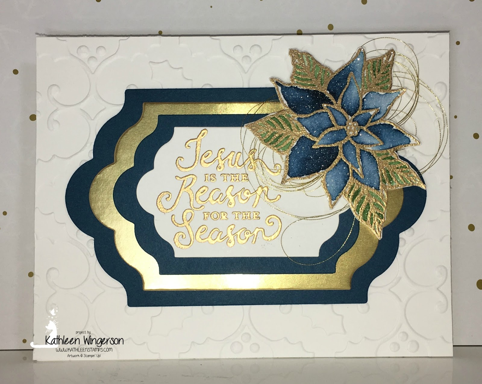 Watercolor Christmas card featuring the Reason for the Season from ...