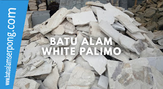 batu alam white palimo