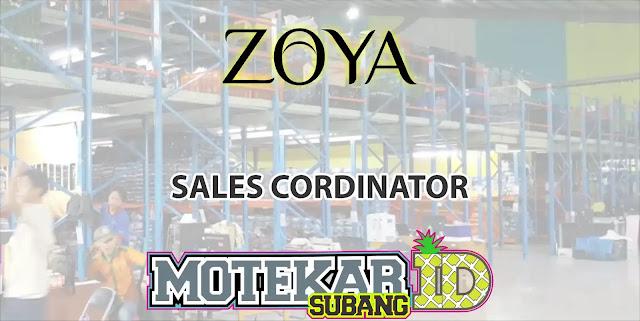 Lowongan Kerja Sales Cordinator Zoya Shafco Bandung 2019