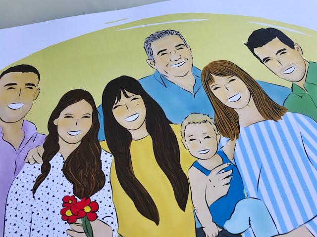 Ilustraciones familiares personalizadas, un regalo original y único