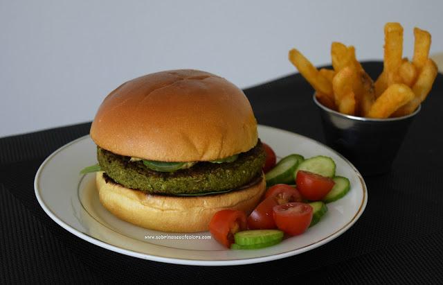 Hamburguesa-vegana-verde