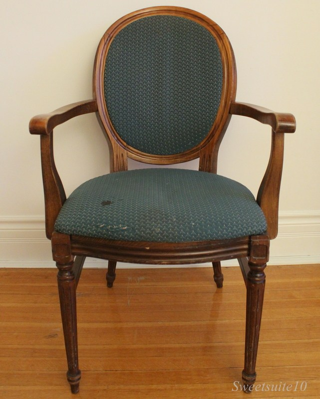 One of my Kijiji Chairs complete with rather unattractive upholstery