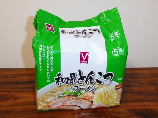 【Vselect(バローのPB商品)】和風とんこつラーメン (製造者:株式会社エースコック)