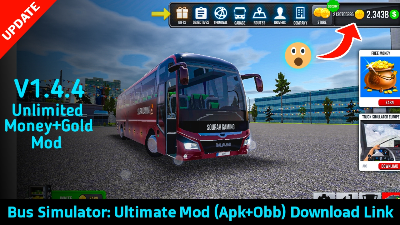 Bus Simulator Ultimate Mod Apk V1 4 4 Unlimited Money And Gold