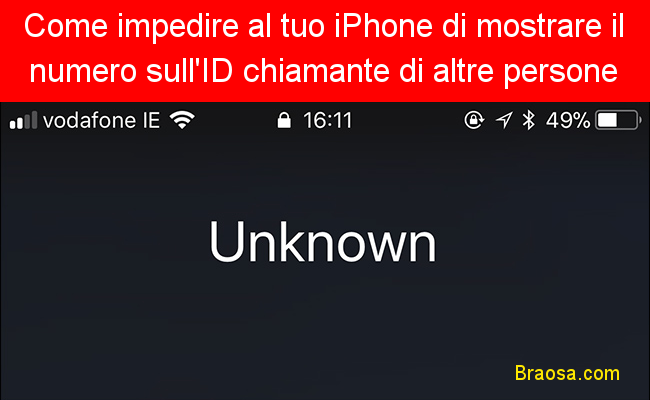 Come impedire al tuo iPhone di mostrare il tuo numero sull'ID chiamante di altre persone