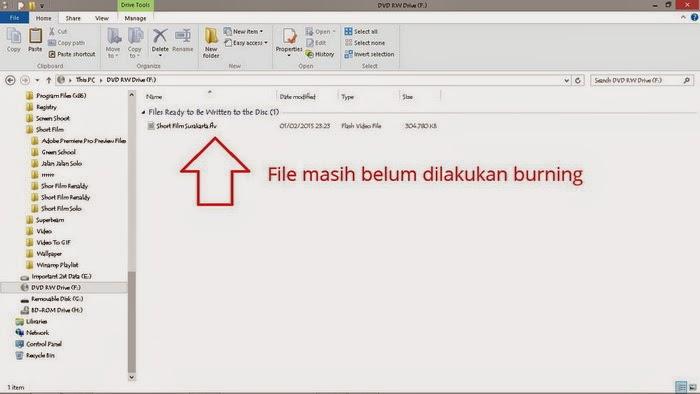 Cara Burning File Dari PC Ke CD / DVD Tanpa Software Dengan Mudah