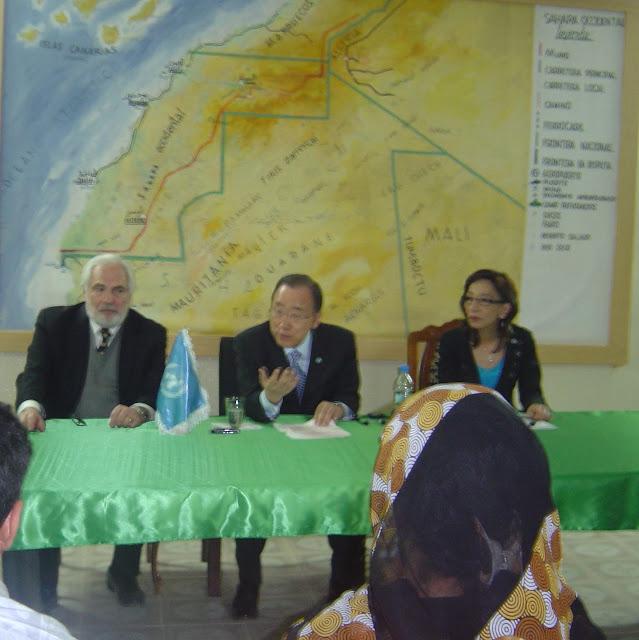 كيمون: زيارتي الى مخيمات اللاجئين الصحراويين تهدف الى اطلاعي عن كثب على إحدى المآسي المنسية من قبل المجتمع الدولي