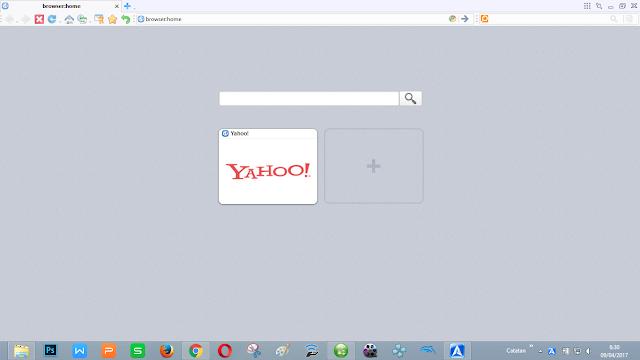 tampilan browser yang flat, hampir mirip dengan google chrome