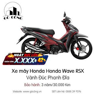 Bảng Giá Xe máy Honda Honda Wave RSX - Vành Đúc Phanh Đĩa Mới Nhất Tháng 12/2020