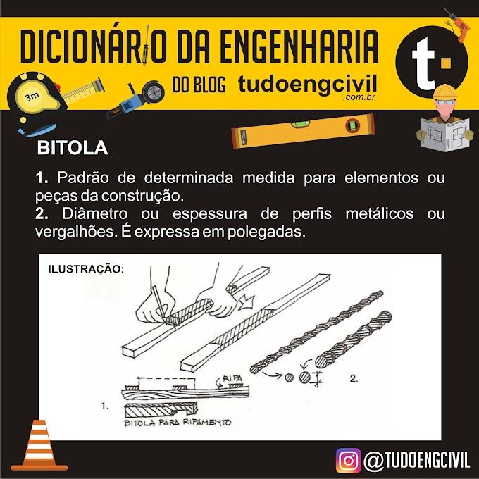 O que é bitola? Dicionário da Engenharia